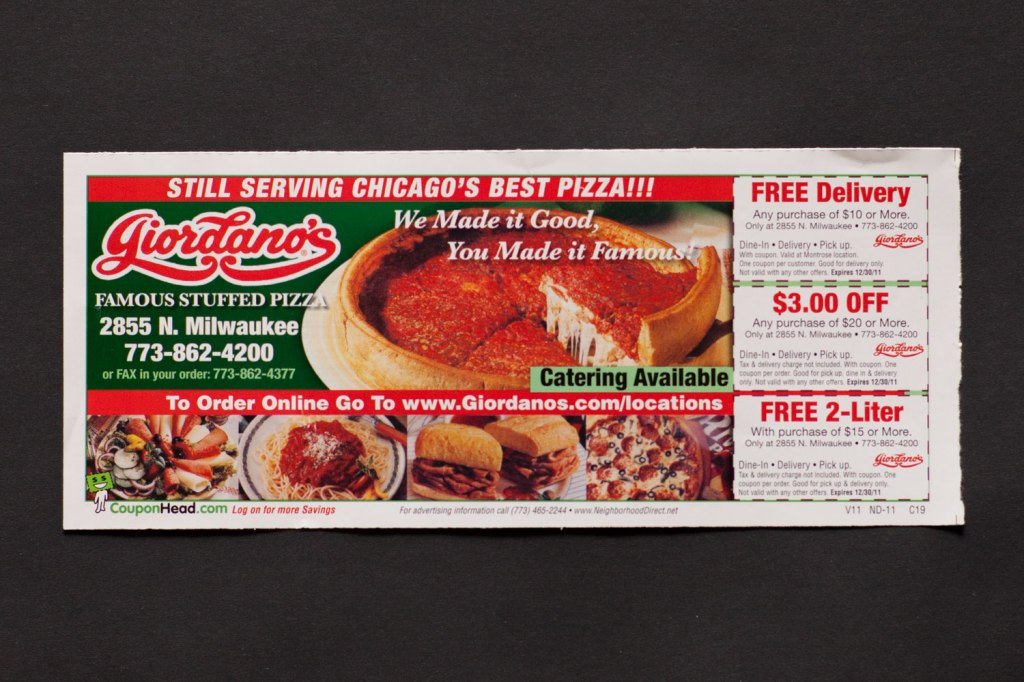 Giordano's coupons south naperville
