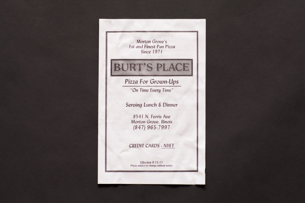 Burt's Place Menu