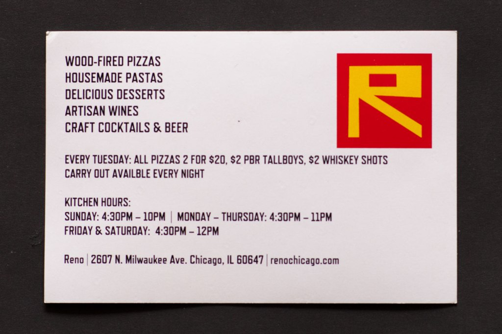 Reno Chicago Postcard