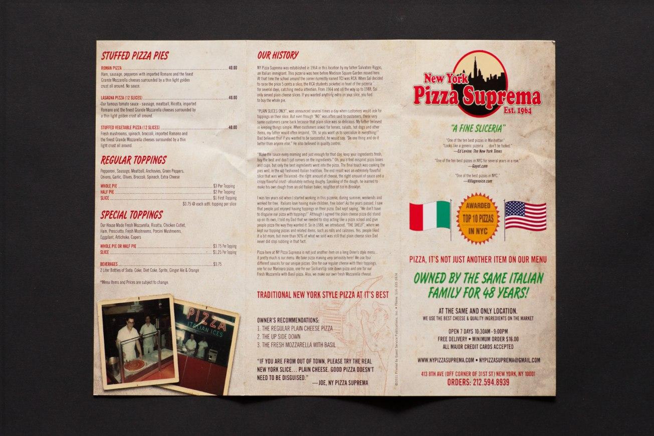 New York Pizza Suprema Menu