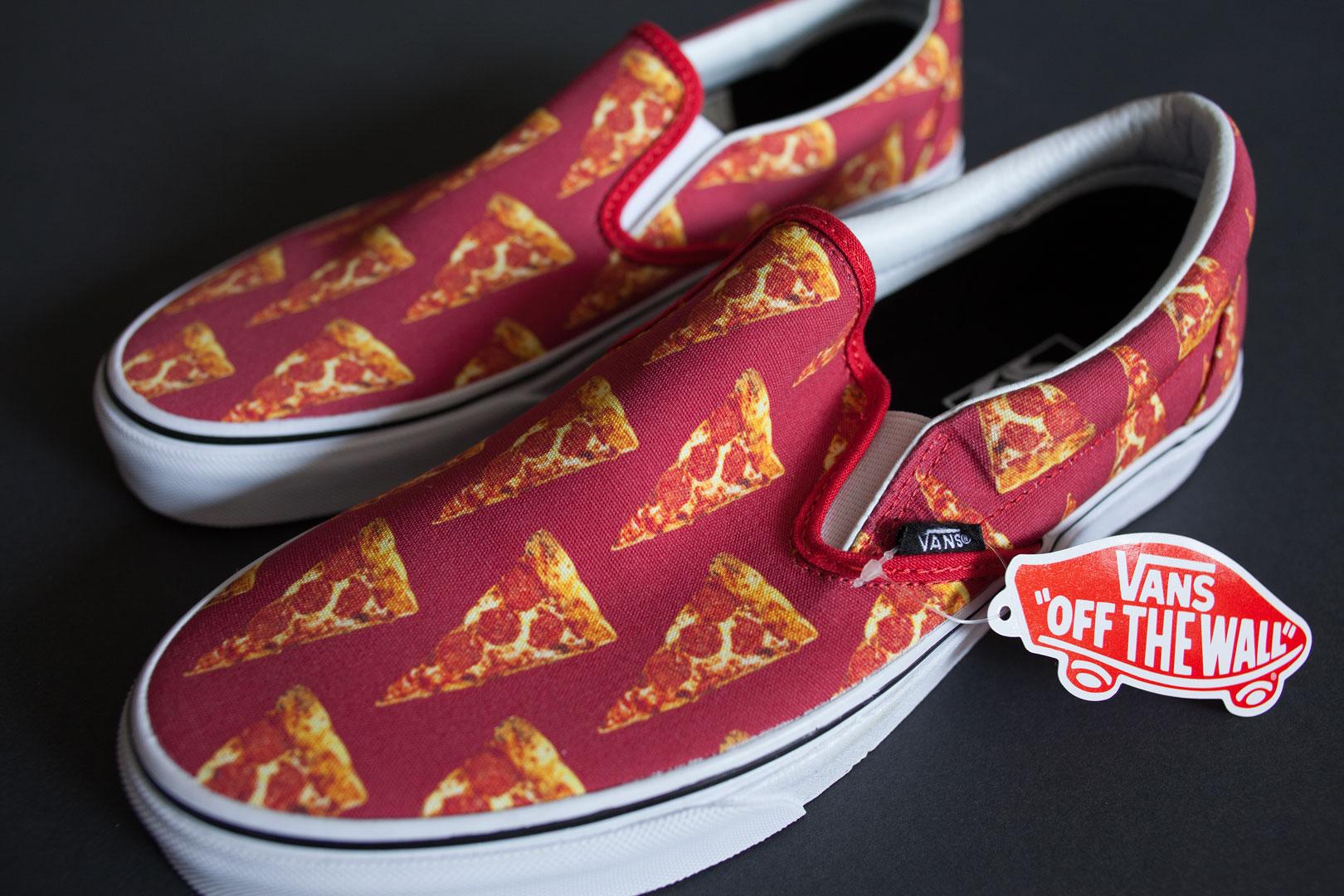 vans slip on pizza