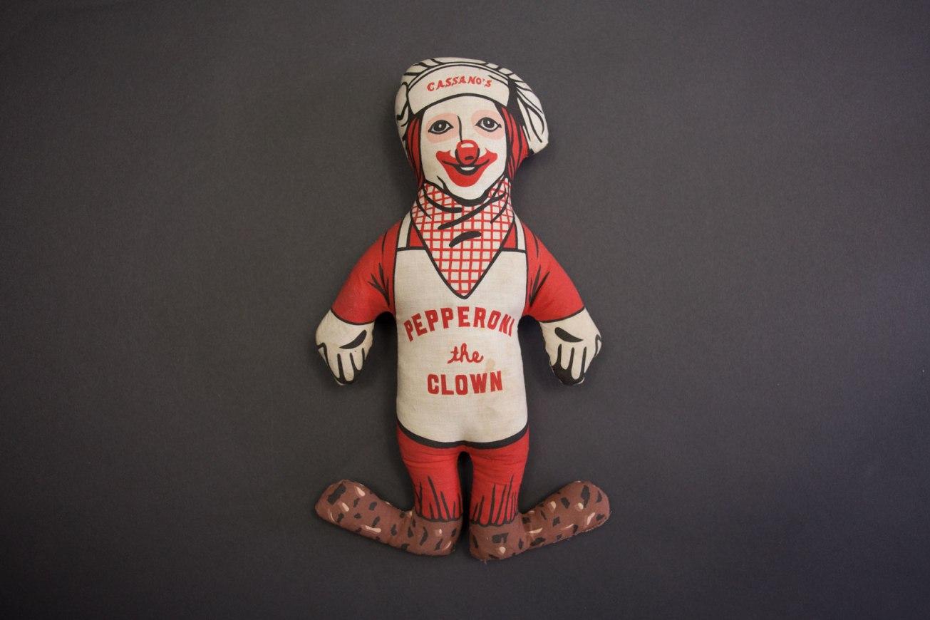 Cassano's Pizza Pepperoni the Clown Doll
