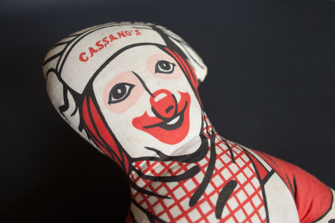 Cassano's Pizza Pepperoni the Clown Doll