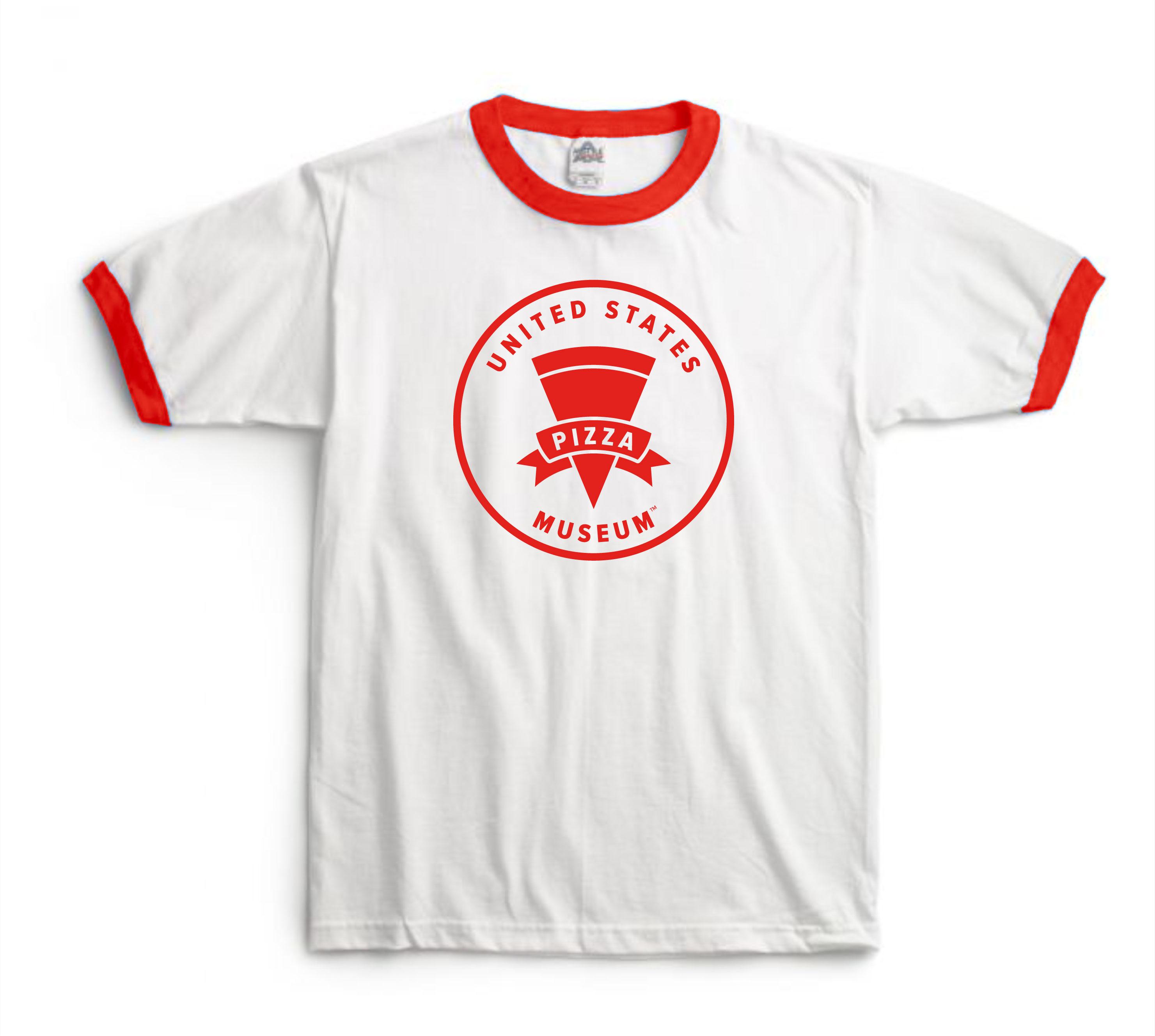 U.S. Pizza Museum Logo Ringer T-Shirt